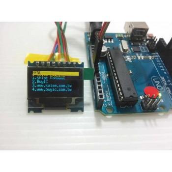 KSM115 黃藍色 SPI 12864 OLED  液晶模組