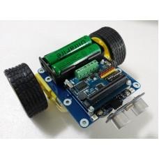 KSR026 micro bit 黃色塑膠馬達自 走車套件